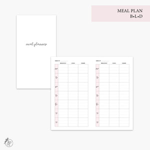 Meal Plan BLD Pink - Personal TN