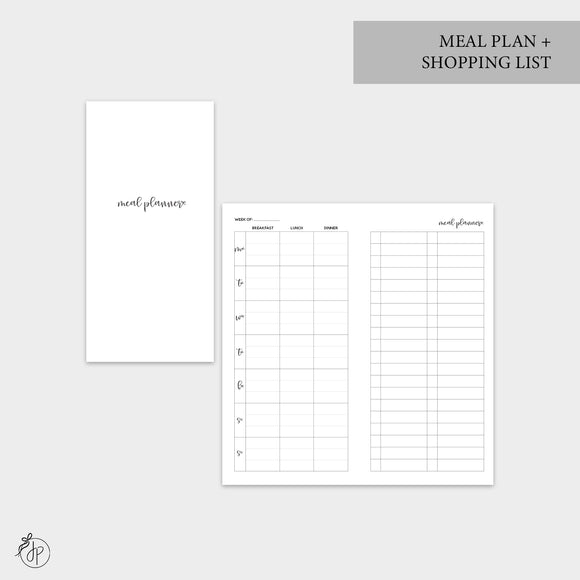 Meal Plan + Shopping List - Hobo TN