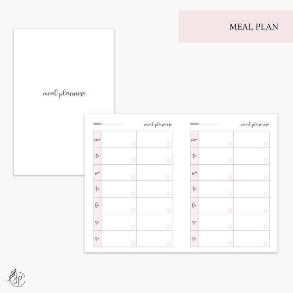 Meal Plan Pink - A6 TN