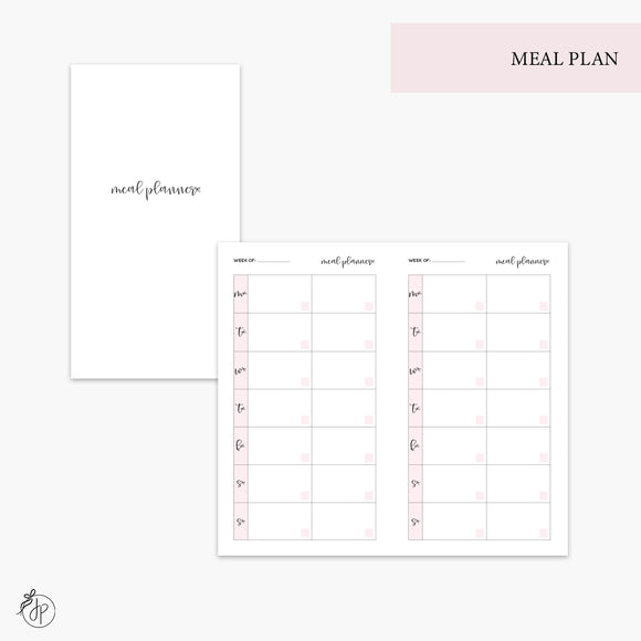 Meal Plan Pink - Personal TN