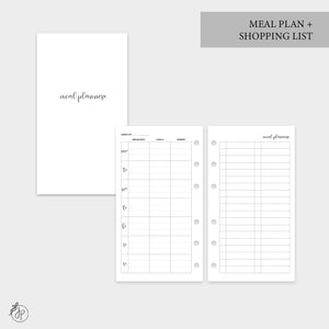 Meal Plan + Shopping List - Personal Rings