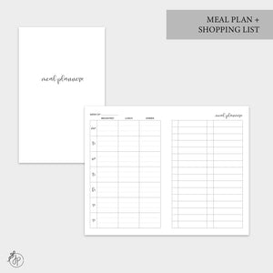 Meal Plan + Shopping List - Pocket TN