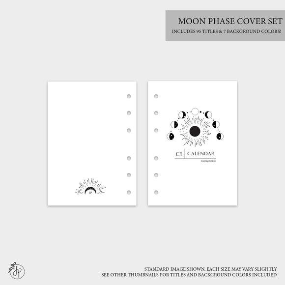Moon Phase Covers - A5 Rings