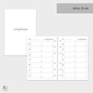 Meal Plan - A6 Rings