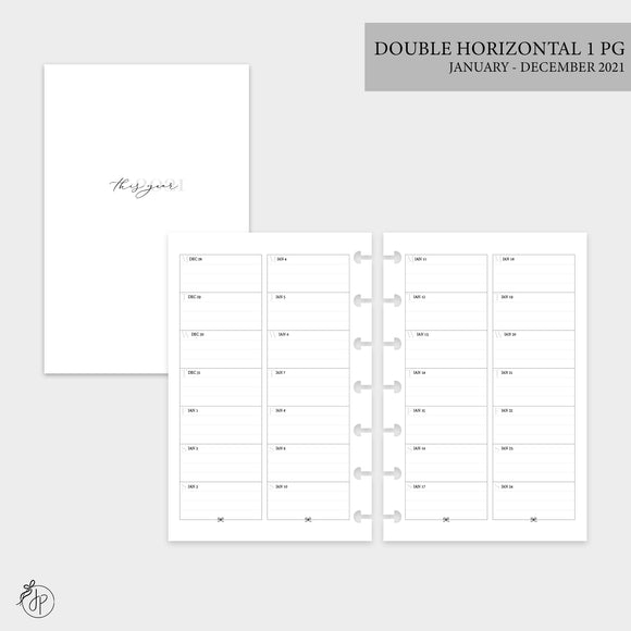 Double Horizontal on 1 Page 2021 - Mini HP Disc