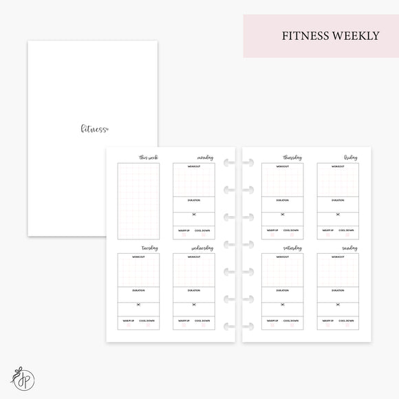 Fitness Weekly Pink - Mini HP Disc