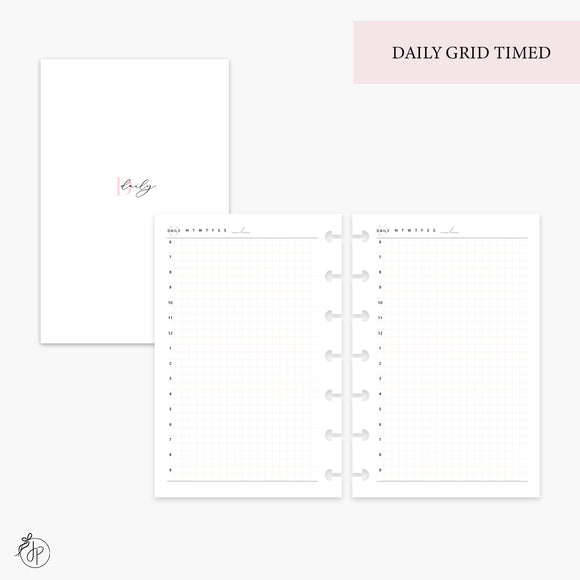 Daily Grid Timed Pink - Mini HP Disc