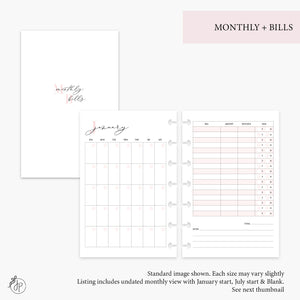 Monthly + Bills Pink - Mini HP Disc