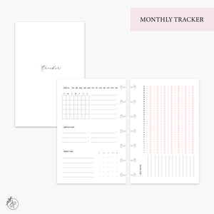 Monthly Tracker Pink - Mini HP Disc