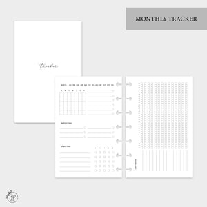 Monthly Tracker - Mini HP Disc