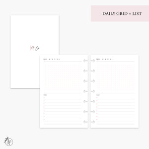 Daily Grid + List Pink - Mini HP Disc