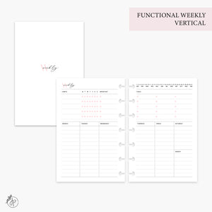 Functional Weekly Vertical Pink - Mini HP Disc