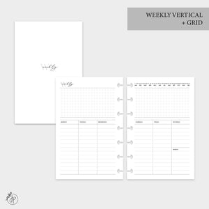Weekly Vertical + Grid - Mini HP Disc