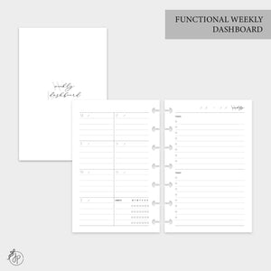 Functional Weekly Dashboard - Mini HP Disc