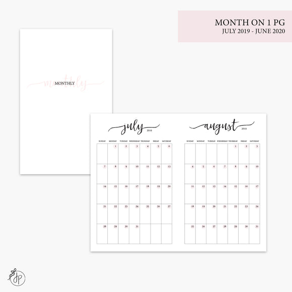 Month on 1 Page 19/20 Pink - Pocket TN