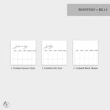 Monthly + Bills - A5 Wide Rings