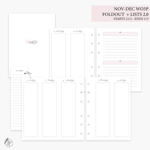 Nov-Dec Wo3P Foldout + Lists 2.0 Pink - Personal Wide Rings
