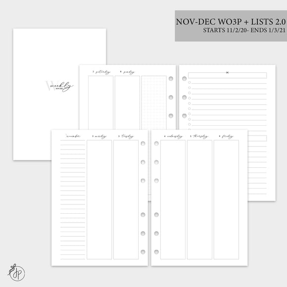 Nov-Dec Wo3P + Lists 2.0 - A5 Rings