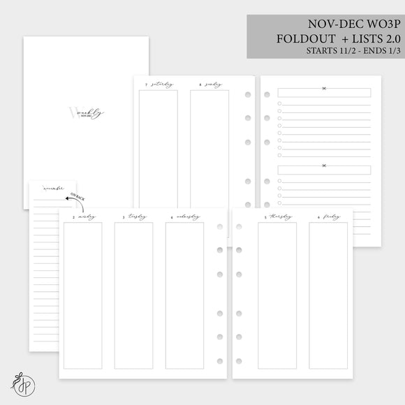 Nov-Dec Wo3P Foldout + Lists 2.0 - Personal Wide Rings