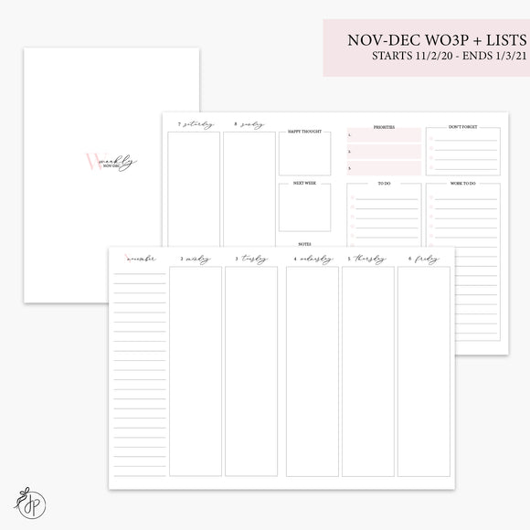 Nov-Dec Wo3P + Lists Pink - B6 TN