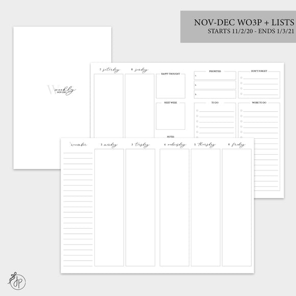 Nov-Dec Wo3P + Lists - B6 TN