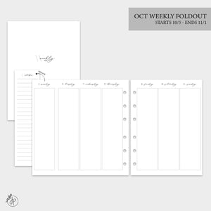 October Weekly Foldout - B6 Rings