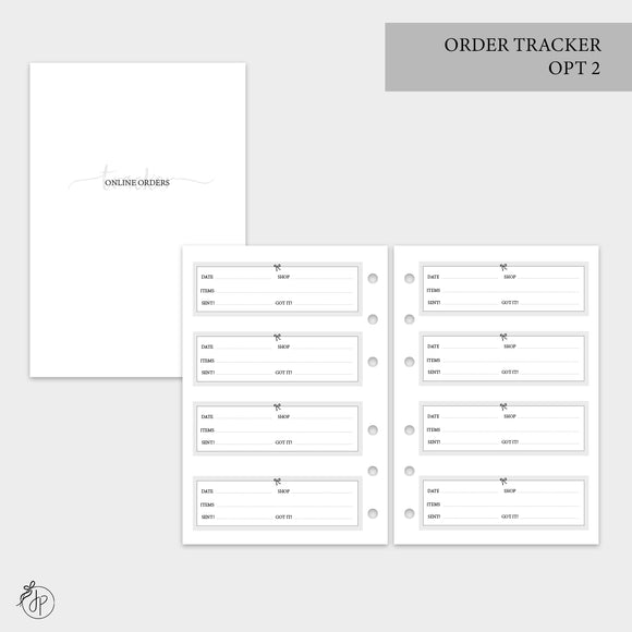 Order Tracker Opt 2 - A6 Rings
