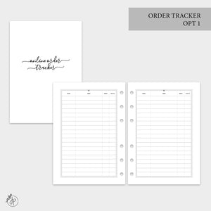 Order Tracker Opt 1 - A5 Rings