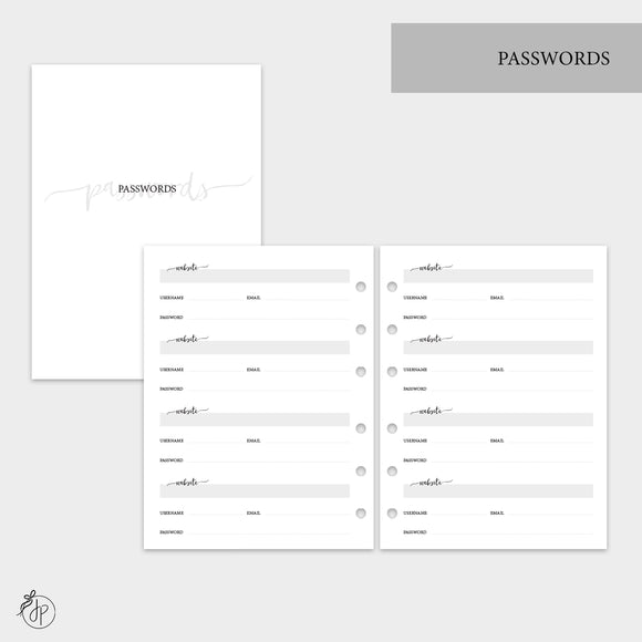 Passwords - B6 Rings