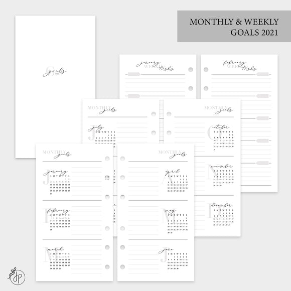 Monthly & Weekly Goals 2021 - Personal Rings