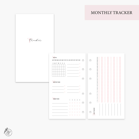 Monthly Tracker Pink - Personal Rings