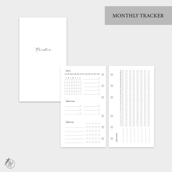Monthly Tracker - Personal Rings