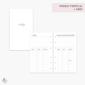 Weekly Vertical + Grid Pink - Personal Rings