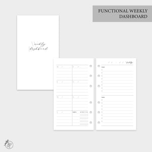 Functional Weekly Dashboard - Personal Rings