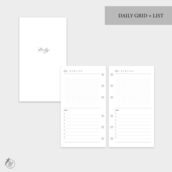 Daily Grid + List - Personal Rings
