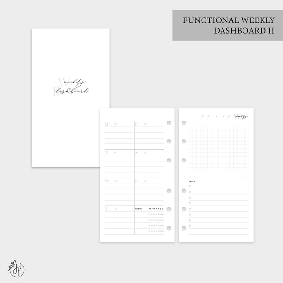 Functional Weekly Dashboard II - Personal Rings