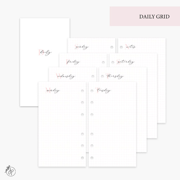 Daily Grid Pink - Personal Rings