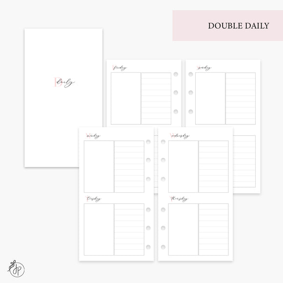 Double Daily Pink - Personal Rings