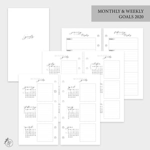 Monthly & Weekly Goals 2020 - Personal Rings