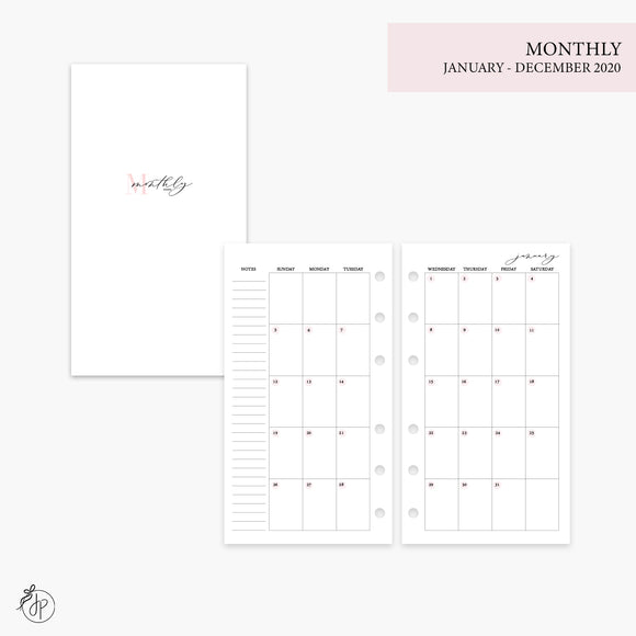Monthly 2020 Pink - Personal Rings