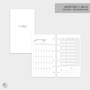 Monthly + Bills 2020 - Personal Rings