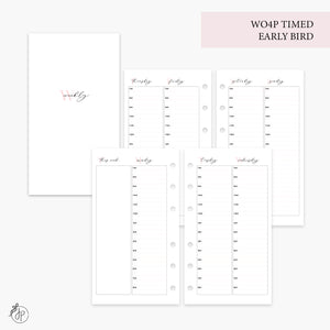 WO4P Timed Early Bird Pink - Personal Rings