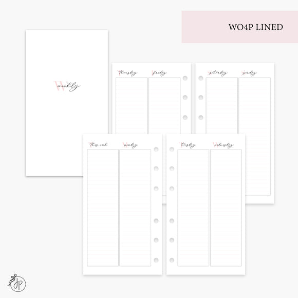 WO4P Lined Pink - Personal Rings