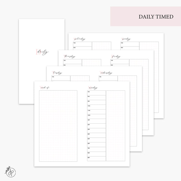 Daily Timed Pink - Personal TN