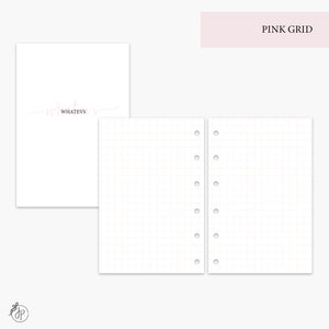 Pink Grid - Pocket Rings