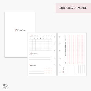 Monthly Tracker Pink - Pocket Rings