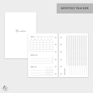 Monthly Tracker - Pocket Rings