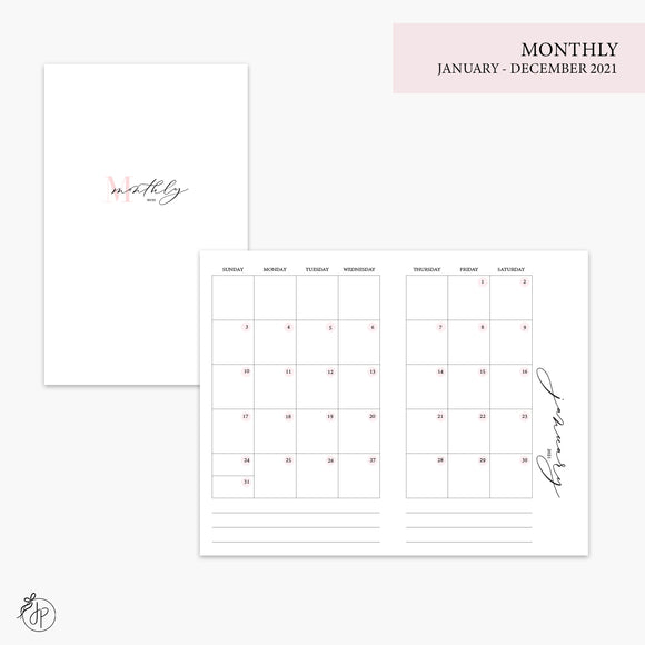 Monthly 2021 Pink - Pocket TN