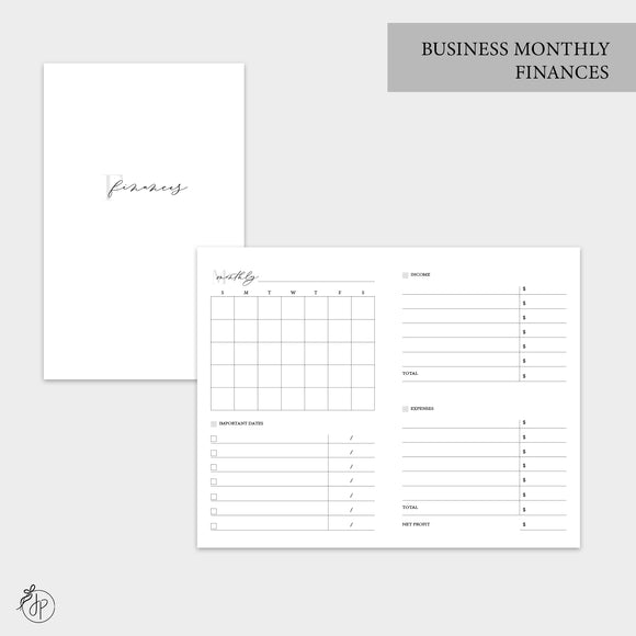 Business Monthly Finances - Pocket TN
