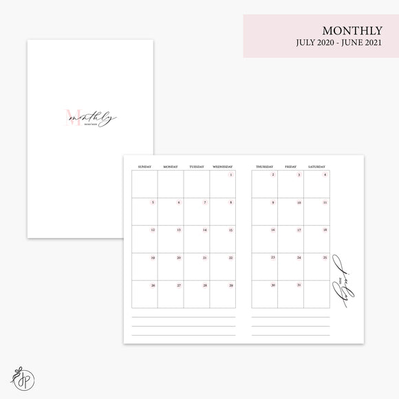 Monthly 20/21 Pink - Pocket TN